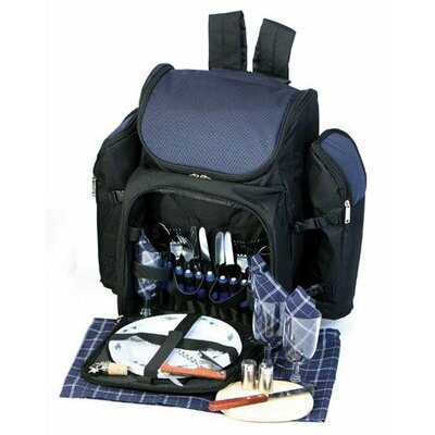 Tandoor 4 Person Deluxe Picnic Backpack by Picnic Plus by Spectrum