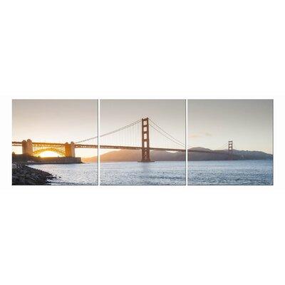 Golden Sunset 3 Piece Photography Print on Vinyl Set by Elementem Photography