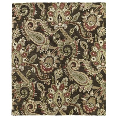 Kaleen Helena Chocolate Odyusseus Brown/Tan Floral Area Rug