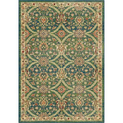 Bellatrixe Aqua/Green Area Rug by Wildon Home ®