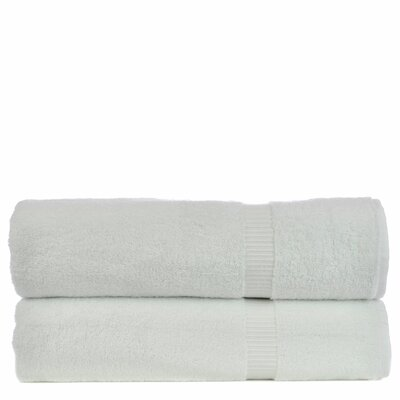 Luxury Hotel and Spa Turkish Cotton Dobby Border Bath Sheet by Bare Cotton