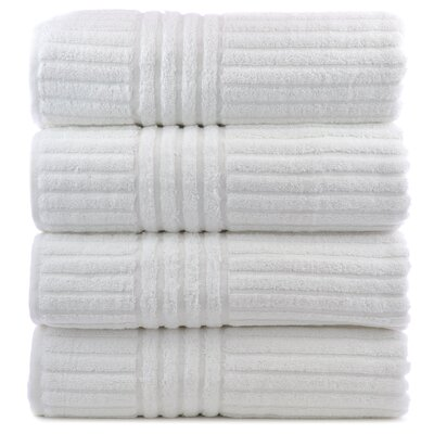 Luxury Hotel and Spa Turkish Cotton Striped 3 Piece Towel Set by Bare Cotton