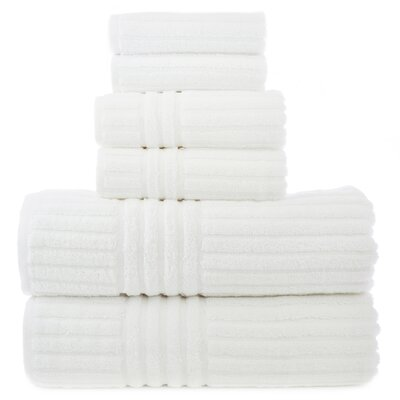 Luxury Hotel and Spa 100% Genuine Turkish Cotton 6 Piece Towel Set by Bare Cotton ...