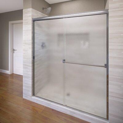 "Classic 70"" x 40"" Frameless Bypass Sliding Shower Door Product Photo"