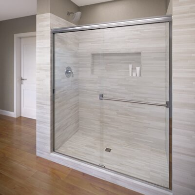 "Classic 70"" x 47"" Frameless Bypass Sliding Shower Door Product Photo"