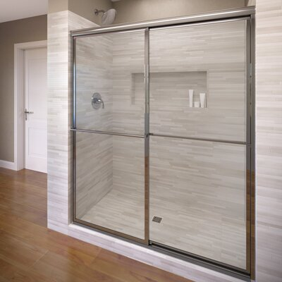 "Deluxe 71.5"" x 47"" Framed Bypass Sliding Shower Door Product Photo"