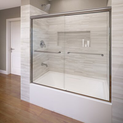 "Infinity 56"" x 52"" Frameless Bypass Sliding Tub Door Product Photo"