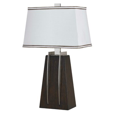 modern 28 h table lamp with rectangular shade by cal lighting. Black Bedroom Furniture Sets. Home Design Ideas