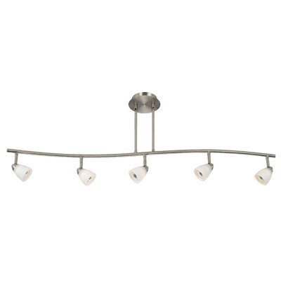 Serpentine 5 Light Track Light with Glass Product Photo
