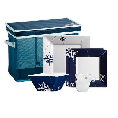Northwind Nautical 25 Piece Dinnerware Set by MB Coastal Designs
