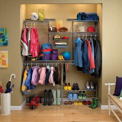 ShelfTrack Satin Chrome Adjustable Closet Organizer Kit Product Photo