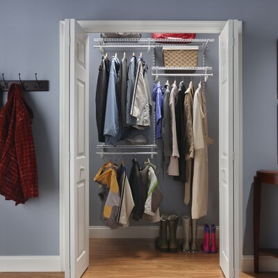 ShelfTrack Adjustable Closet Organizer Kit Product Photo