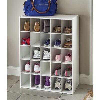 Beau Closetmaid 78506 Shoe Cubeical ( Cubby ) Laminated White Wood Organizer