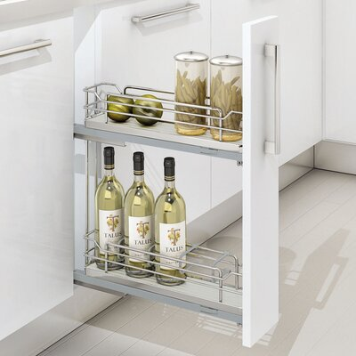 Two-Tier Euro Pullout Organizer by Rev-A-Shelf