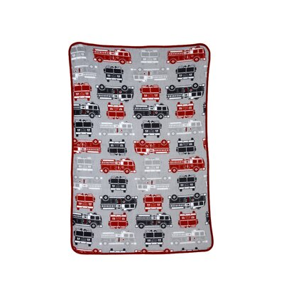 Fire Truck Printed Coral Fleece Blanket by Carter's