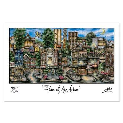 'Ann Arbor, MI' by Brian McKelvey Painting Print by PubsOf