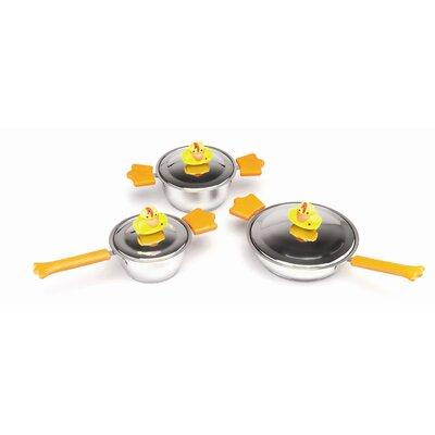 BergHOFF International Sheriff Duck Stainless Steel 6-Piece Cookware Set