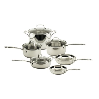 EarthChef 10-Piece Premium Copper Clad Cookware Set with Glass Lids by BergHOFF
