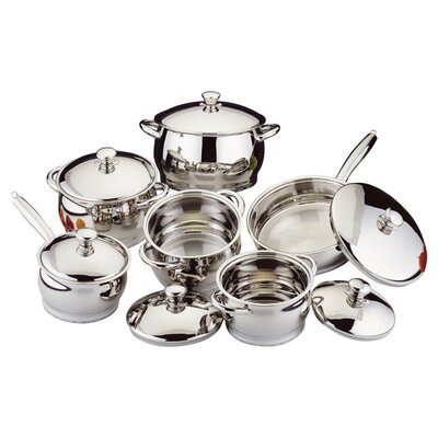 Stainless Steel 12-Piece Cookware Set by BergHOFF