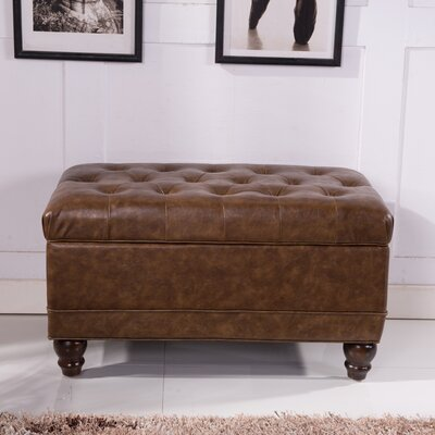 Elegant Classic Button Tufted Storage Ottoman by Bellasario Collection