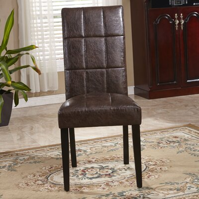 Classic Waxed Texture Parsons Chair by Bellasario Collection