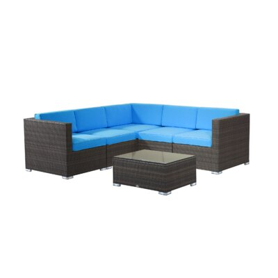 Brighton 6 Piece Sectional Set by Rattan Outdoor Furniture