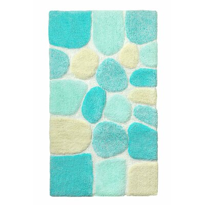 Archangel Ultra Soft Embossed Pebble Stone Bath Mat by Crover