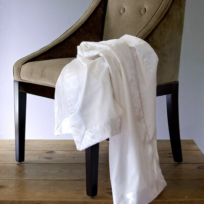Satin Trimmed Cotton Blanket by Mulberry West