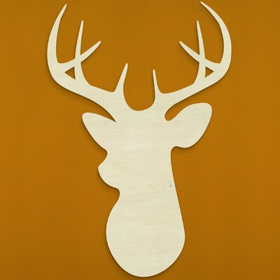 Deer Head Wall Décor by Unfinished Wood Co.