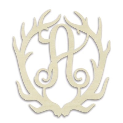 Antler Monogram Hanging Initials by Unfinished Wood Co.