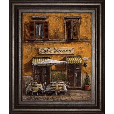 Café Verona by M. Surridge Framed Wall Art by ClassyArtWholesalers