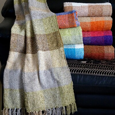 Plaid Design Chenille Throw by Affinity Linens