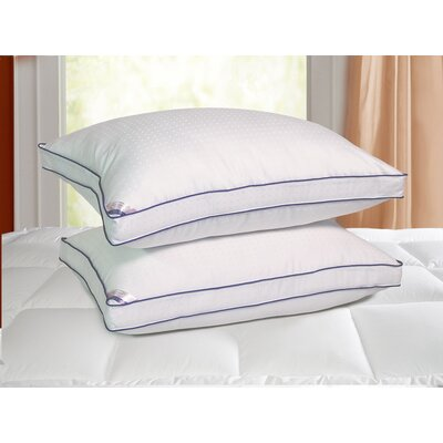 Heirloom 1000 Thread Count Cotton Rich Swiss Dot Pillow by Kathy Ireland Home by Blue ...