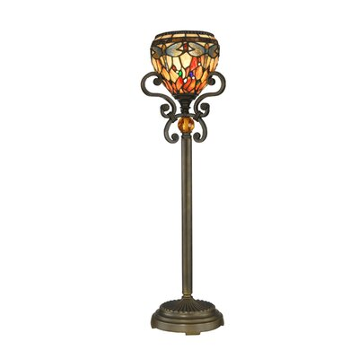 """Dale Tiffany Buffet 28.75"""" H Table Lamp with Bowl Shade"""