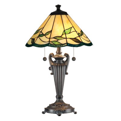 """Dale Tiffany Lifestyles Falhouse 26"""" H Table Lamp with Cone Shade"""