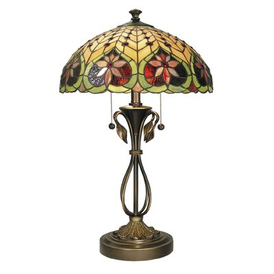 "Dale Tiffany Tiffany 26"" H Table Lamp with Bowl Shade"