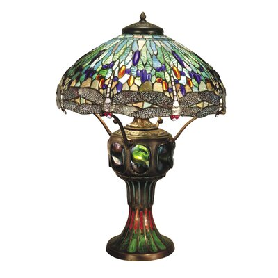 Dale Tiffany Dragonfly 3 Light Table Lamp