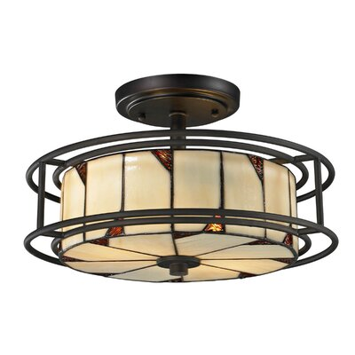 Woodbury 3 Light Semi-Flush Mount Product Photo