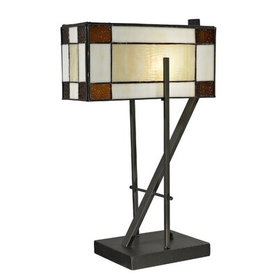 """Dale Tiffany Diamond Hill 20"""" H Table Lamp with Rectangular Shade"""