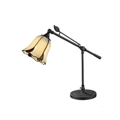 """Dale Tiffany San Antonio Mini 19"""" H Table Lamp with Bell Shade"""