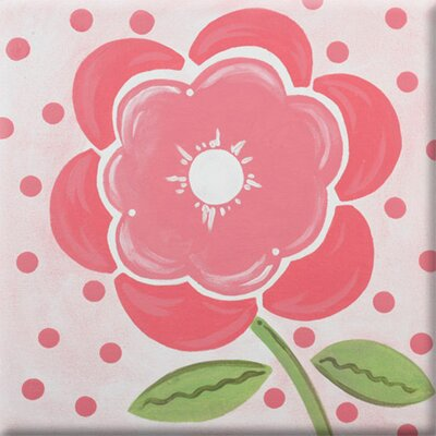 Poppy Imagination Square Coral Canvas Art by Renditions by Reesa