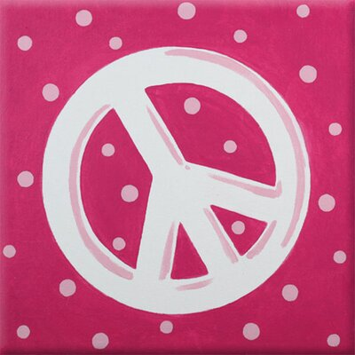 Peace Imagination Square Pink Canvas Art by Renditions by Reesa