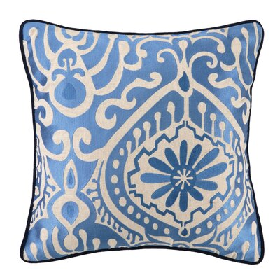 Citadel III Embroidered Linen Throw Pillow by KD Spain