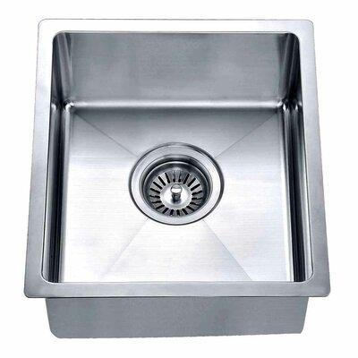 "14.88"" x 13.31"" Under Mount Single Bowl Kitchen Sink Product Photo"