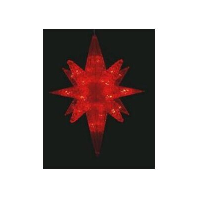 LED Lighted Twinkling 3D Bethlehem Star Hanging Christmas Decoration by PennDistributing