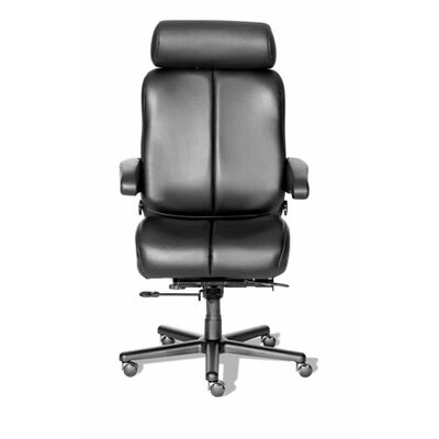 Comfort Series Marathon Leather/Leathermate Vinyl High-Back Executive Chair by ERA Products ...