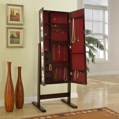 Deluxe Double Doors Jewelry Armoire with Chevor Mirror by Artiva USA