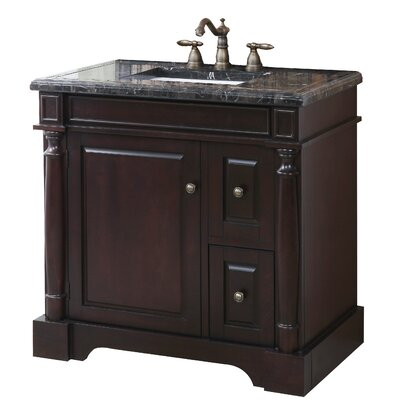 Hancock 35 vanity set wood base with mosaic top sink - Crawford and burke bathroom vanity ...