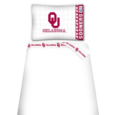 Sports Coverage Inc. NCAA Oklahoma University Sooners Microfiber Sheet Set
