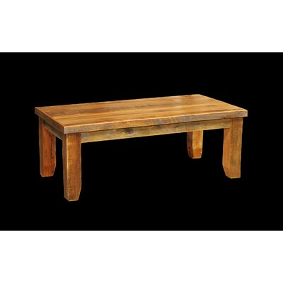 Barnwood Coffee Table with Square Legs by Utah Mountain